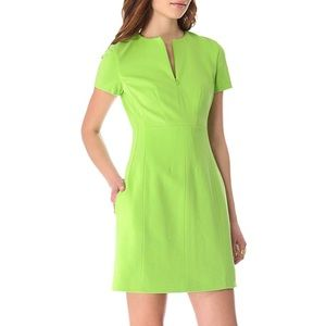 Diane Von Furstenburg Agatha Dress Electric Lime